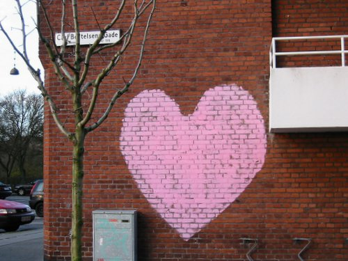 Love Actually on a wall