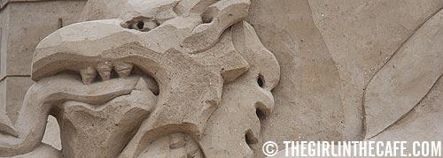 Sand art in Zandvoort (The Netherlands)