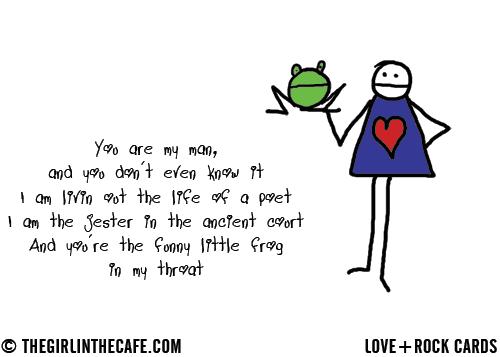 Funny little frog