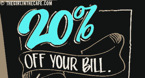 20 percent off your Bill