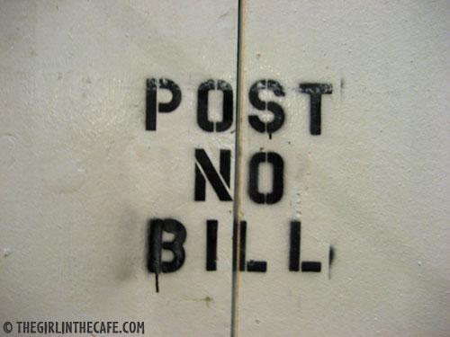 Post no Bill, New York