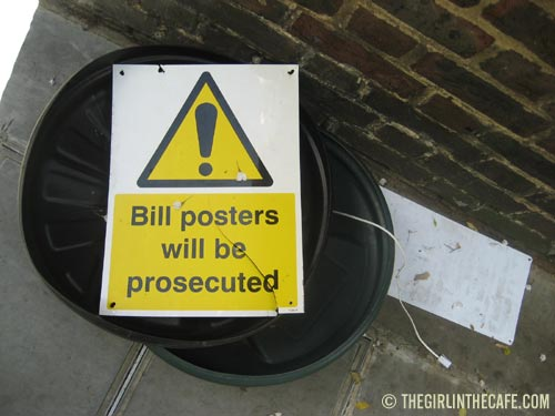 Bill posters will be prosecuted in Chelsea