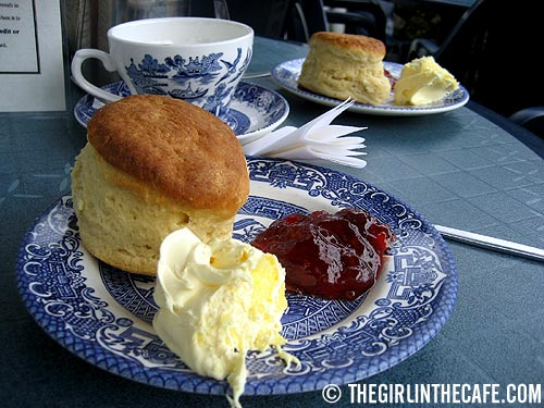 Devon Cream Tea in the Wayside Cafe