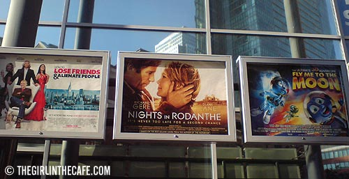 Filmposters, West India Quay cinema, London