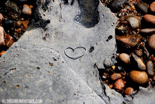 Love Actually, on the beach