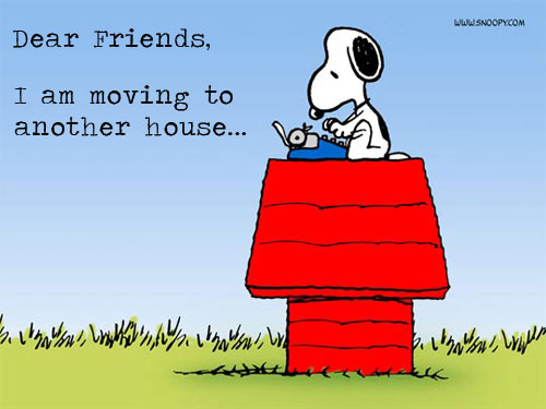 Moving house ...
