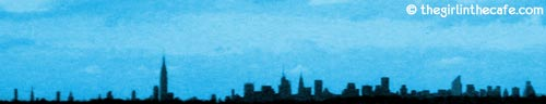 New York sky line from JFK airport