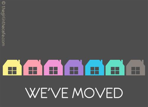 We've moved